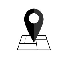 map pointer icon gps location symbol flat design vector image