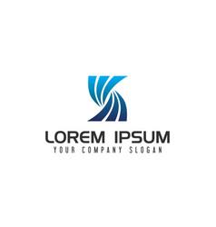 modern letter s logo design concept template vector image