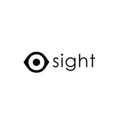 modern simple eye vision logo icon template vector image