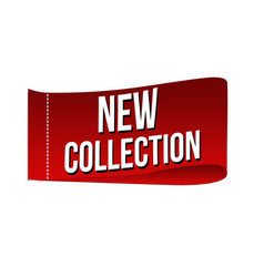 new collection clothing label vector image