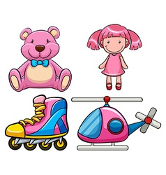 Pink toys vector image