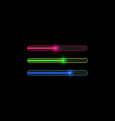 Progress loading bar with lighting concept vector