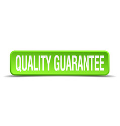 Quality guarantee green 3d realistic square vector