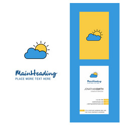 raining creative logo and business card vertical vector image
