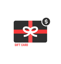 Red and black gift card vector