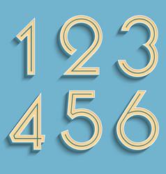 Retro numbers volumetric numbers vector