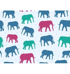 Retro Style Seamless Pattern with Elephant vector image