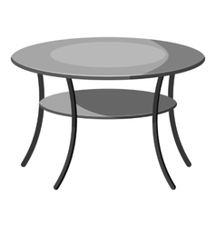 Round table icon gray monochrome style vector image vector image
