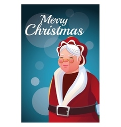 Santas wife cartoon of Christmas season vector
