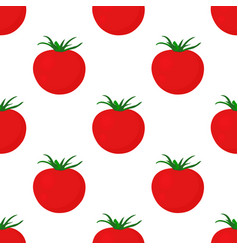 seamless tomato pattern isolated on white vector image