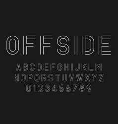 set of alphabets fonts modern abstract design vector image