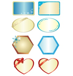 set of figures with ornament vector image