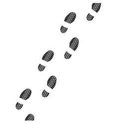 shoes tire track way vector image