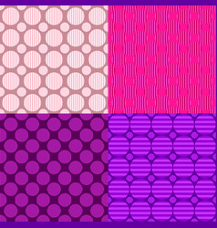 simple seamless circle pattern design background vector image