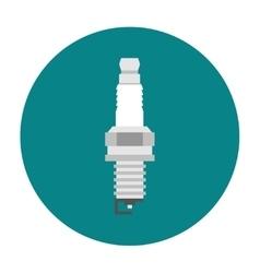 Spark plug flat icon vector