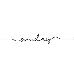Sunday word handwritten vector