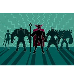 Supervillain Team vector image
