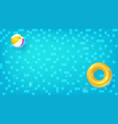 swimming pool top view horizontal pool vector image