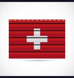 Switzerland siding produce company icon vector