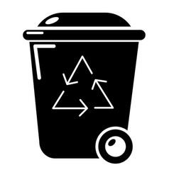 trash wheelie bin icon simple style vector image