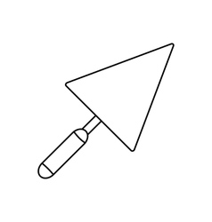Trowel line icon vector