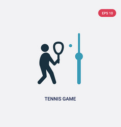 two color tennis game icon from sports concept vector image