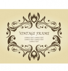 vintage frame in Victorian style vector image