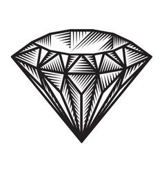 Vintage monochrome diamond concept vector