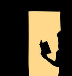 women standing reading books vector image