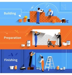 Worker Banner Set vector image
