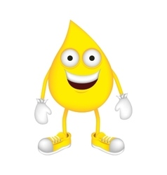 Yellow drop cartoon drop icon image vector