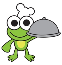 Chef Frog vector image vector image