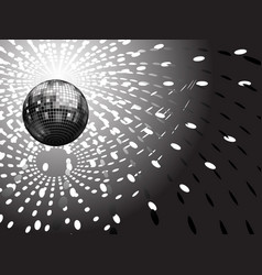 disco globe and light reflections vector image