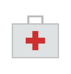 first aid kit bag vector image vector image