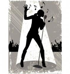 grunge singer vector image vector image