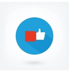 Like icon on blue background vector image