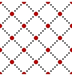 Black white red dotted squares simple seamless vector image