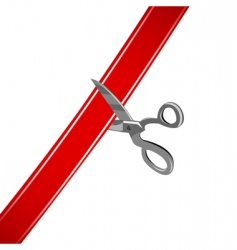 cutting ribbon vector image vector image