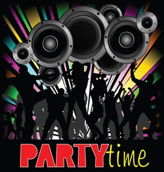 party time with young people vector image vector image