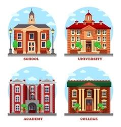 School and university academy college buildings vector image
