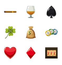 big jackpot icons set cartoon style vector image