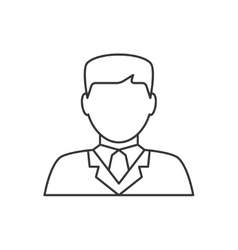 Lawyer avatar line icon vector image