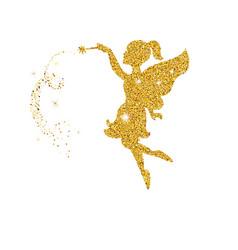 magical fairy with dust glitters magical fairy vector image