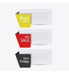 modern sale banners set vector image