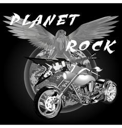 planet rock vector image vector image