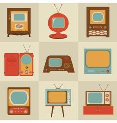 Retro vintage Tv set vector image vector image