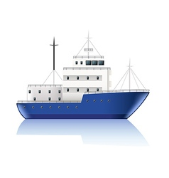 Small ship isolated on white vector image vector image