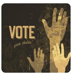 voting hands poster vector image vector image