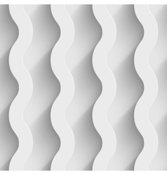 Abstract white paper 3d waves seamless background vector image vector image