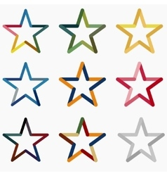Colored Stars vector image vector image